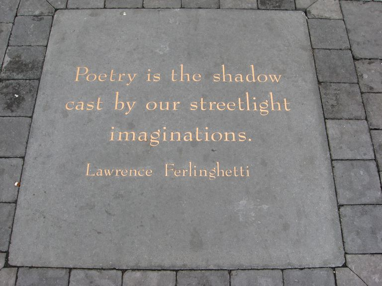 Poetry_is_the_shadow_cast_by_our_streetlight_imaginations_by_Lawrence_Ferlinghetti_-_Jack_Kerouac_Alley-9a1d0634117645d2af7f7ac6208dc45e